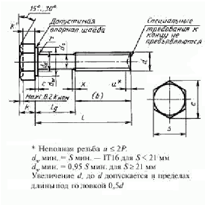 Болт ГОСТ Р 50791-95